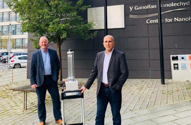 Swansea Firm Helps Fight Pandemic with Automated Disinfection Robots