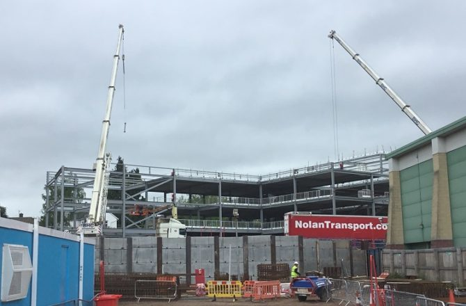 Construction on New Monmouth Comprehensive School Site Progresses