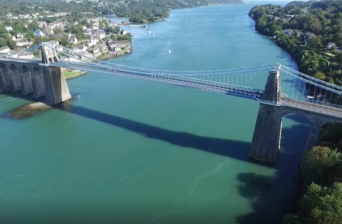Major Repairs Begin on Iconic Menai Suspension Bridge