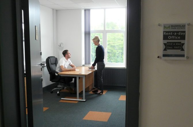 Rent-a-Day Office Space Now Offered at Torfaen Business Park