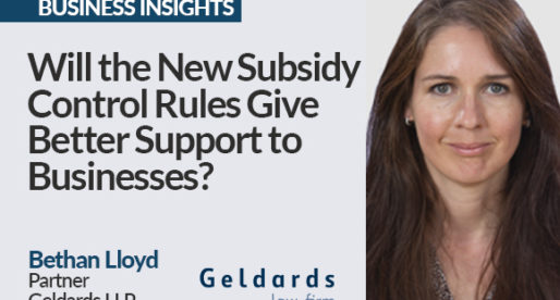 Will the New Subsidy Control Rules Give Better Support to Businesses?