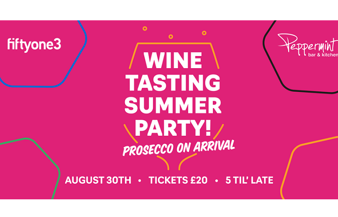 <strong> 30th August – Cardiff </strong><br> Wine Tasting Summer Party