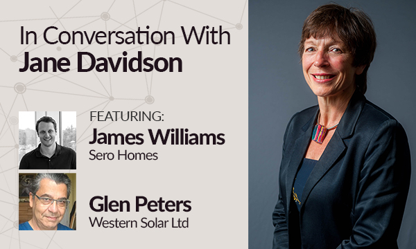 Glen Peters & James Williams in Conversation with Jane Davidson