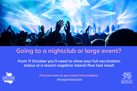 Wales Introduces Covid Pass for Events and Nightclubs